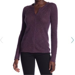 INHABIT Cashmere Lace Pullover in Melberry M